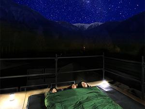 【流れ星を見に行こう!】屋上展望デッキでほんのり温か、寝袋で星空鑑賞プラン画像その2